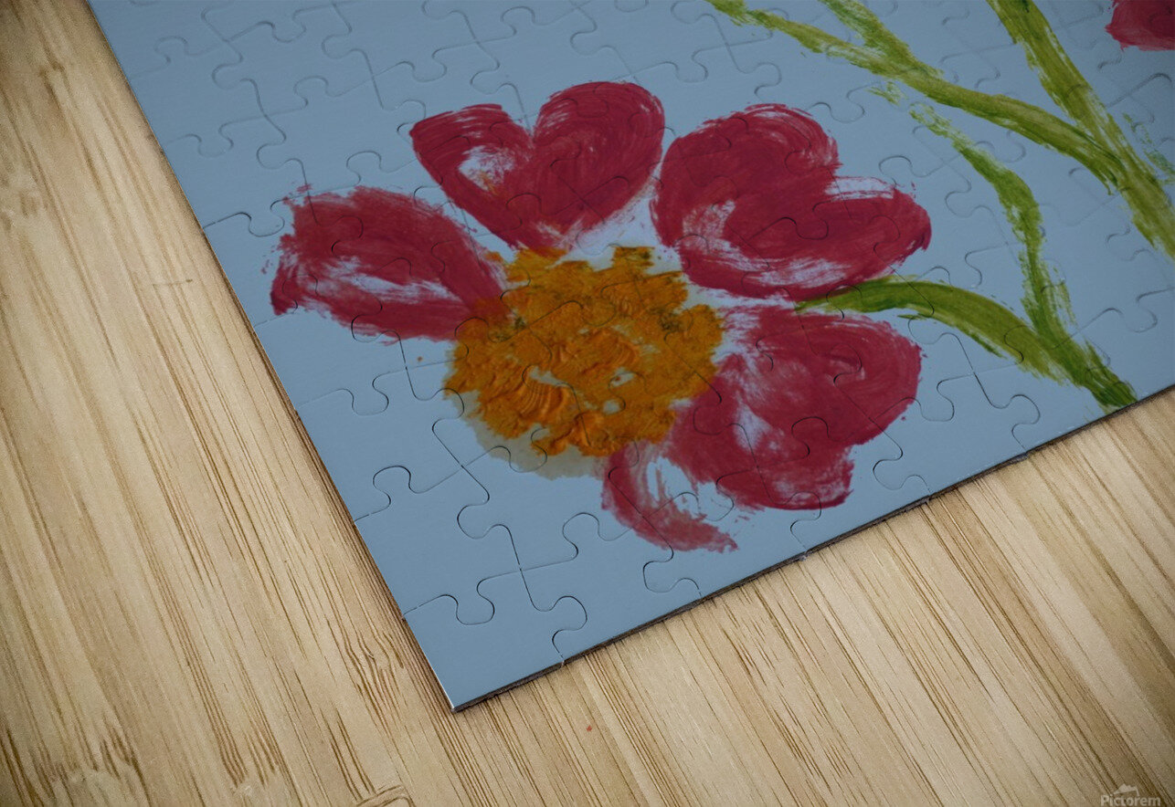 Red Flower 2 HD Sublimation Metal print