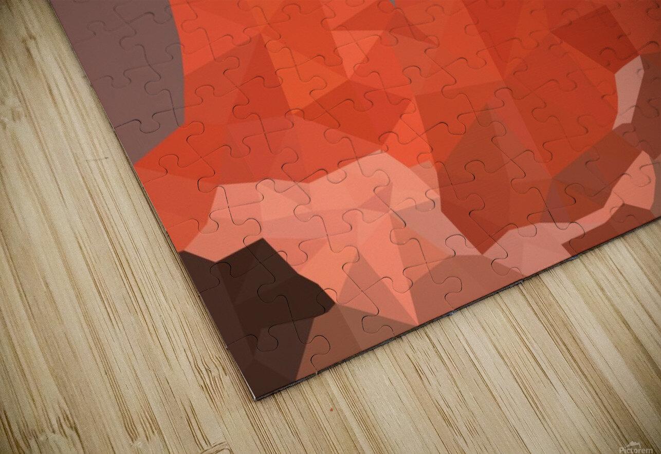 Torres del Paine National Park Low Poly Art  HD Sublimation Metal print