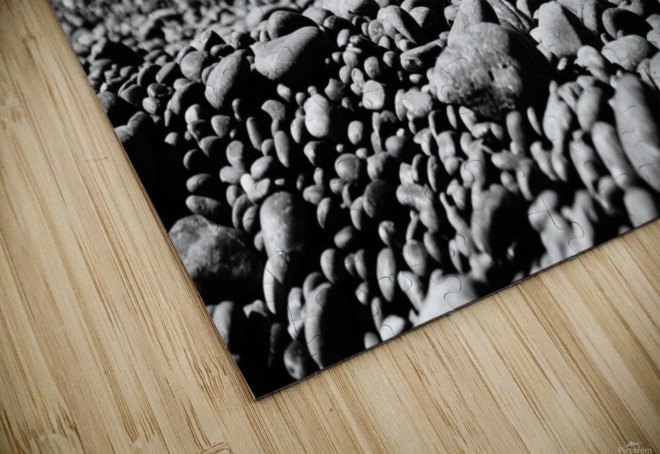 Pebbles on beach HD Sublimation Metal print