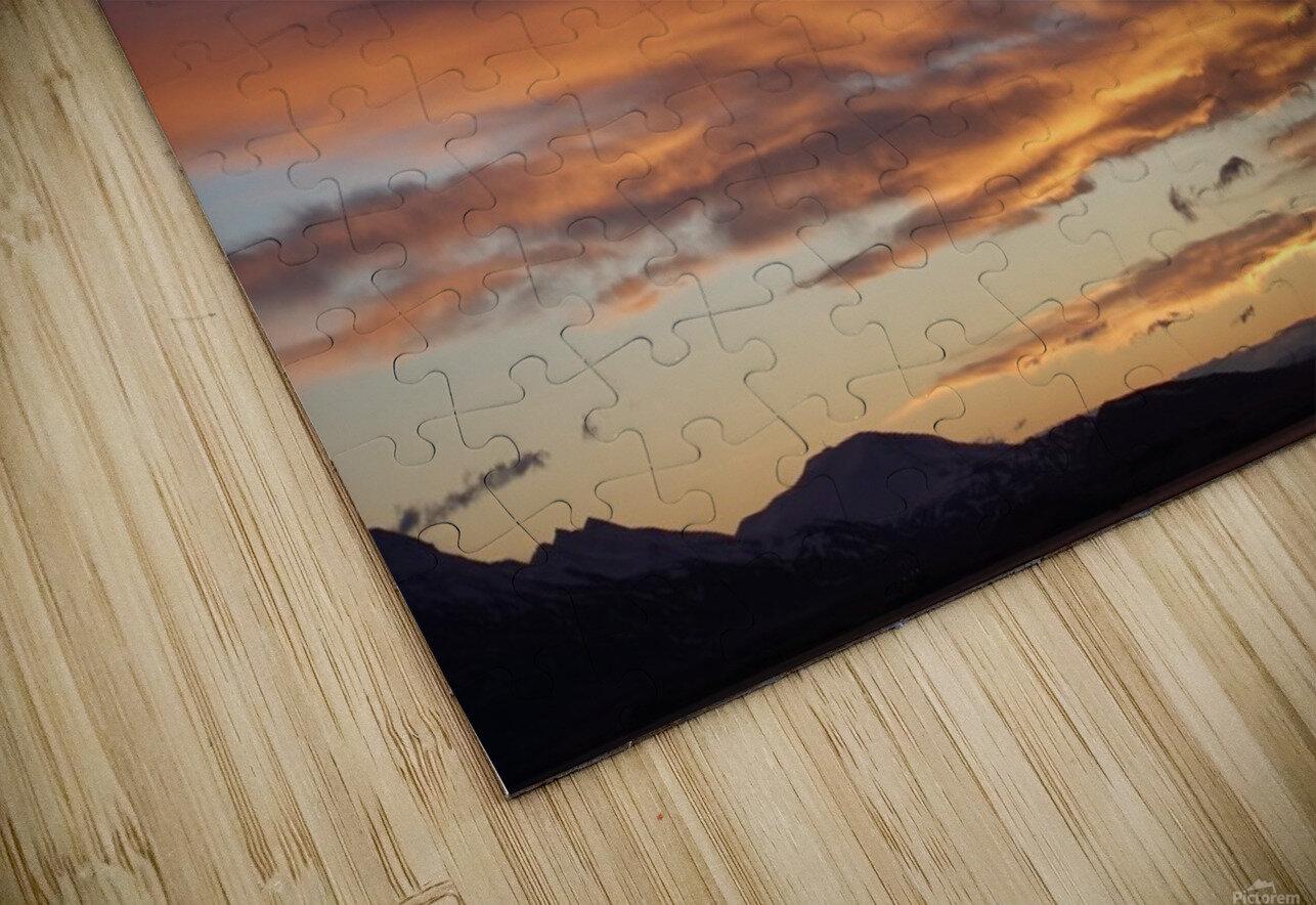 Icelandic Sunrise HD Sublimation Metal print