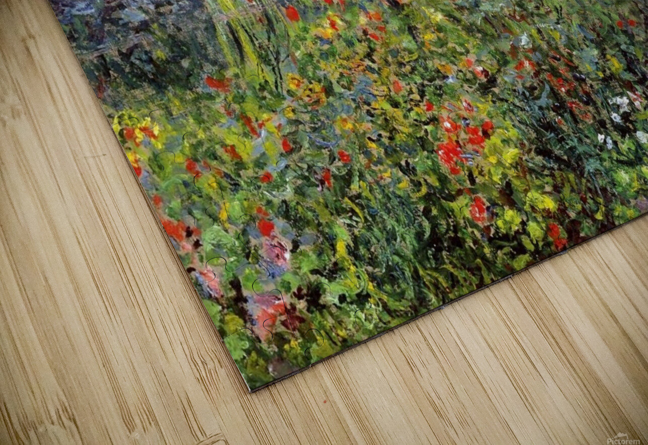 Flowers at Vetheuil HD Sublimation Metal print