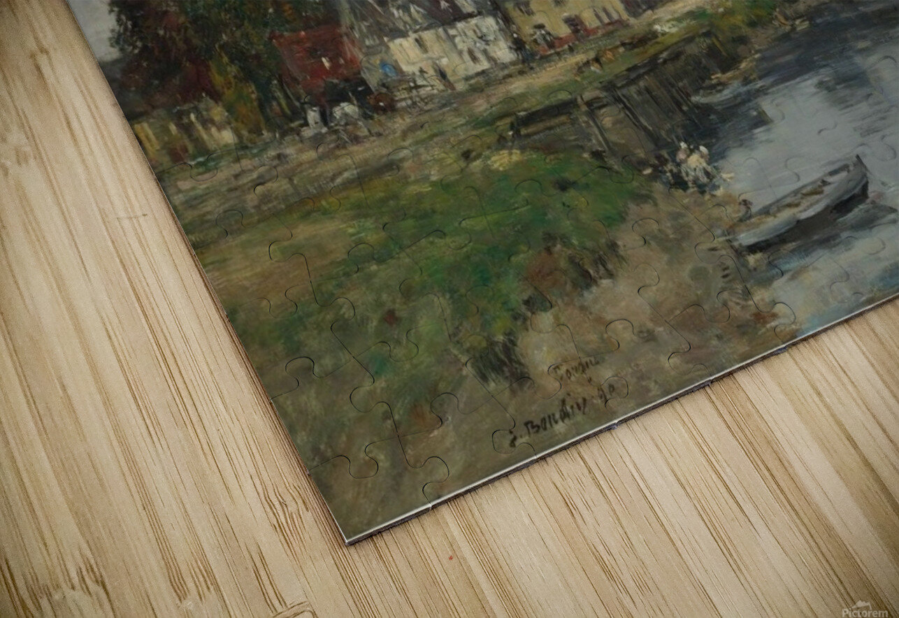 Trouville, View of Port's Landing Stage HD Sublimation Metal print