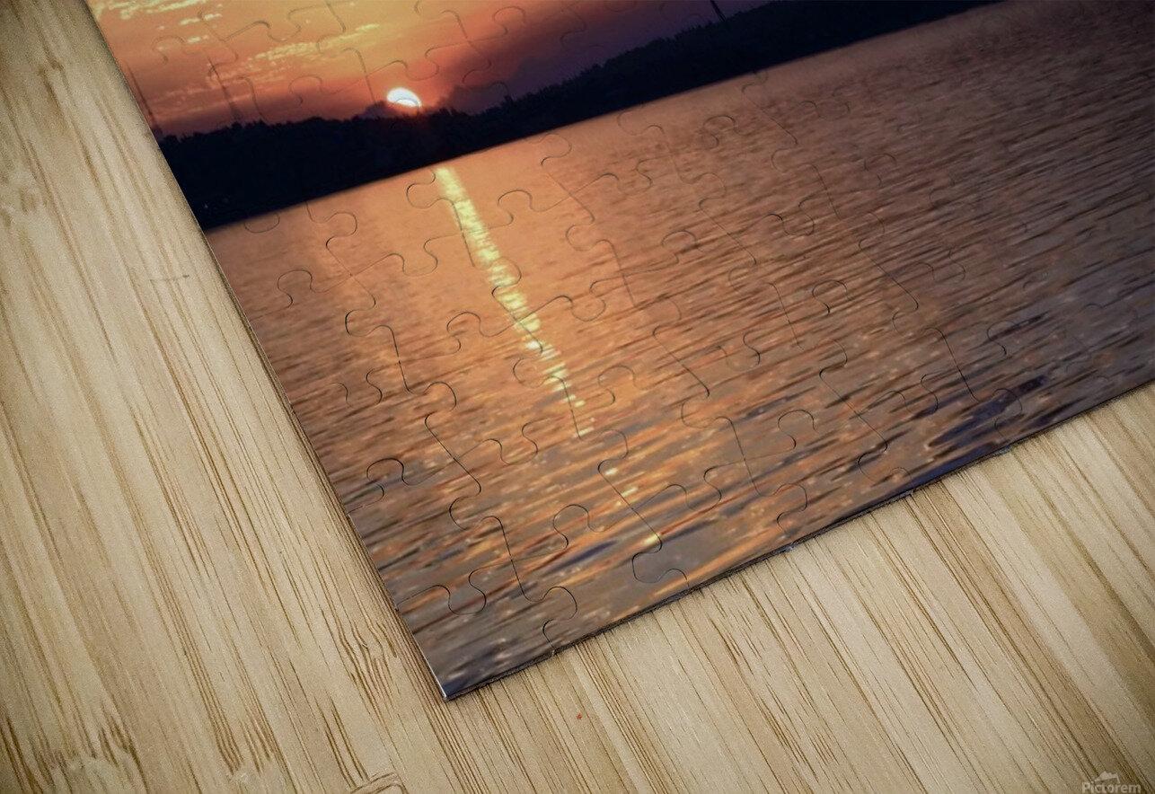 Puget Sound Sunrise HD Sublimation Metal print