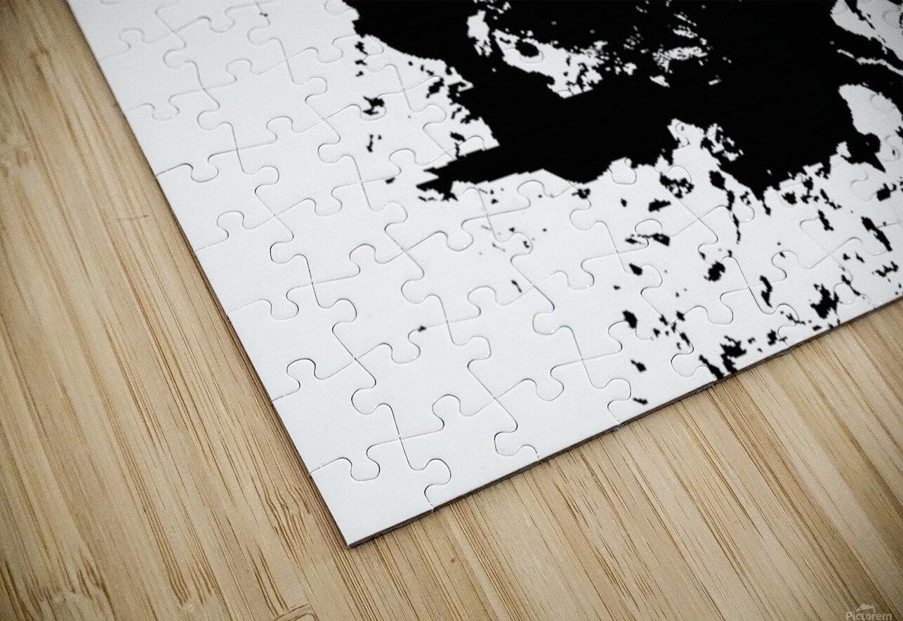 Surprise Black and White HD Sublimation Metal print