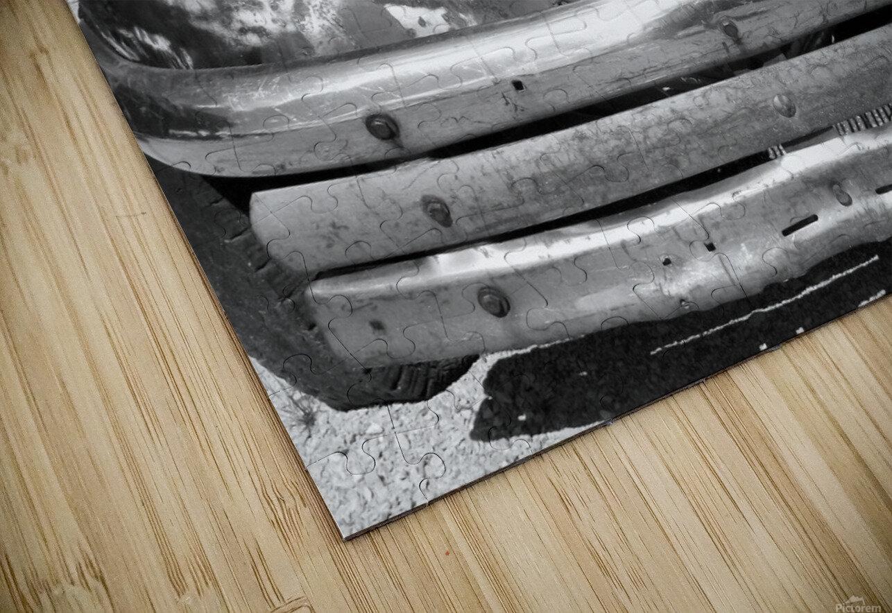 Rusty Old Truck B&W HD Sublimation Metal print