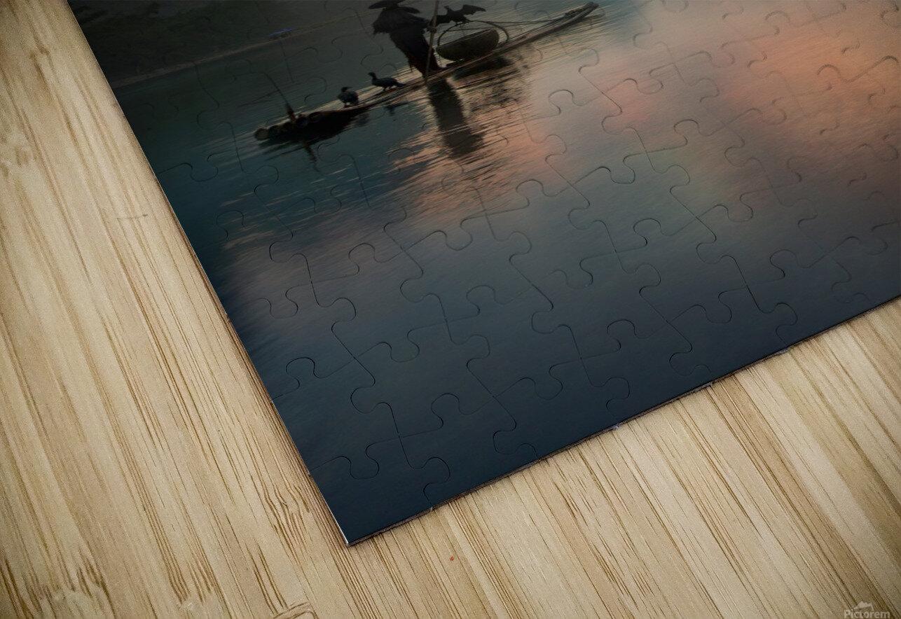 Li River Sunrise HD Sublimation Metal print