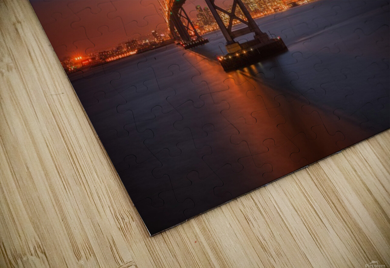 Fire over San Francisco HD Sublimation Metal print