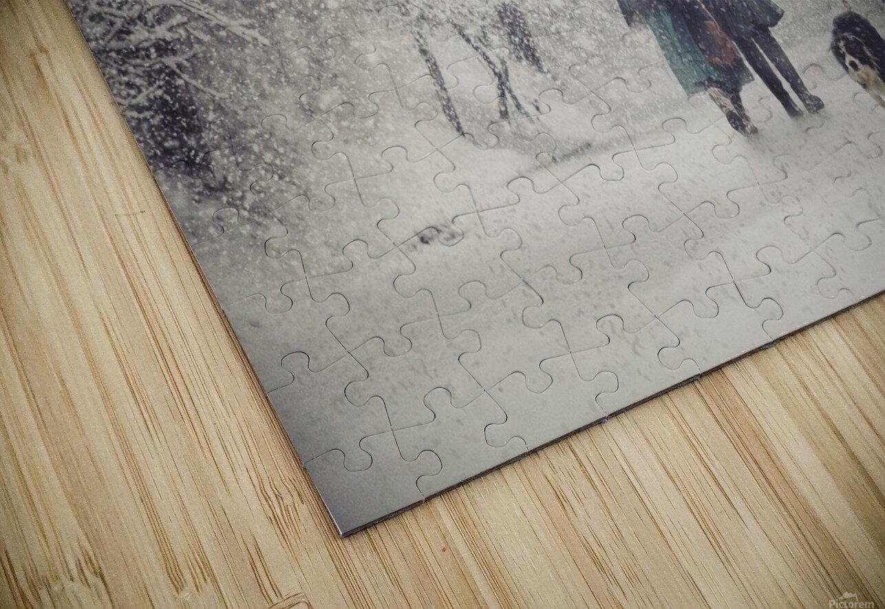 Snow storm charm HD Sublimation Metal print