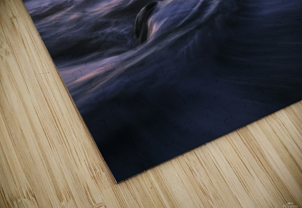 Golden beach HD Sublimation Metal print