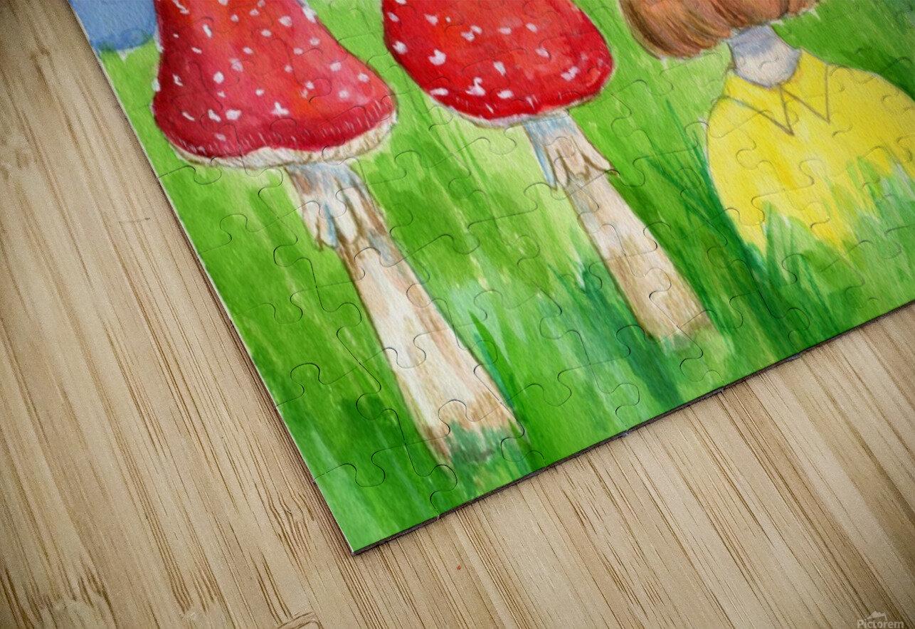 Mushroom Girl  HD Sublimation Metal print