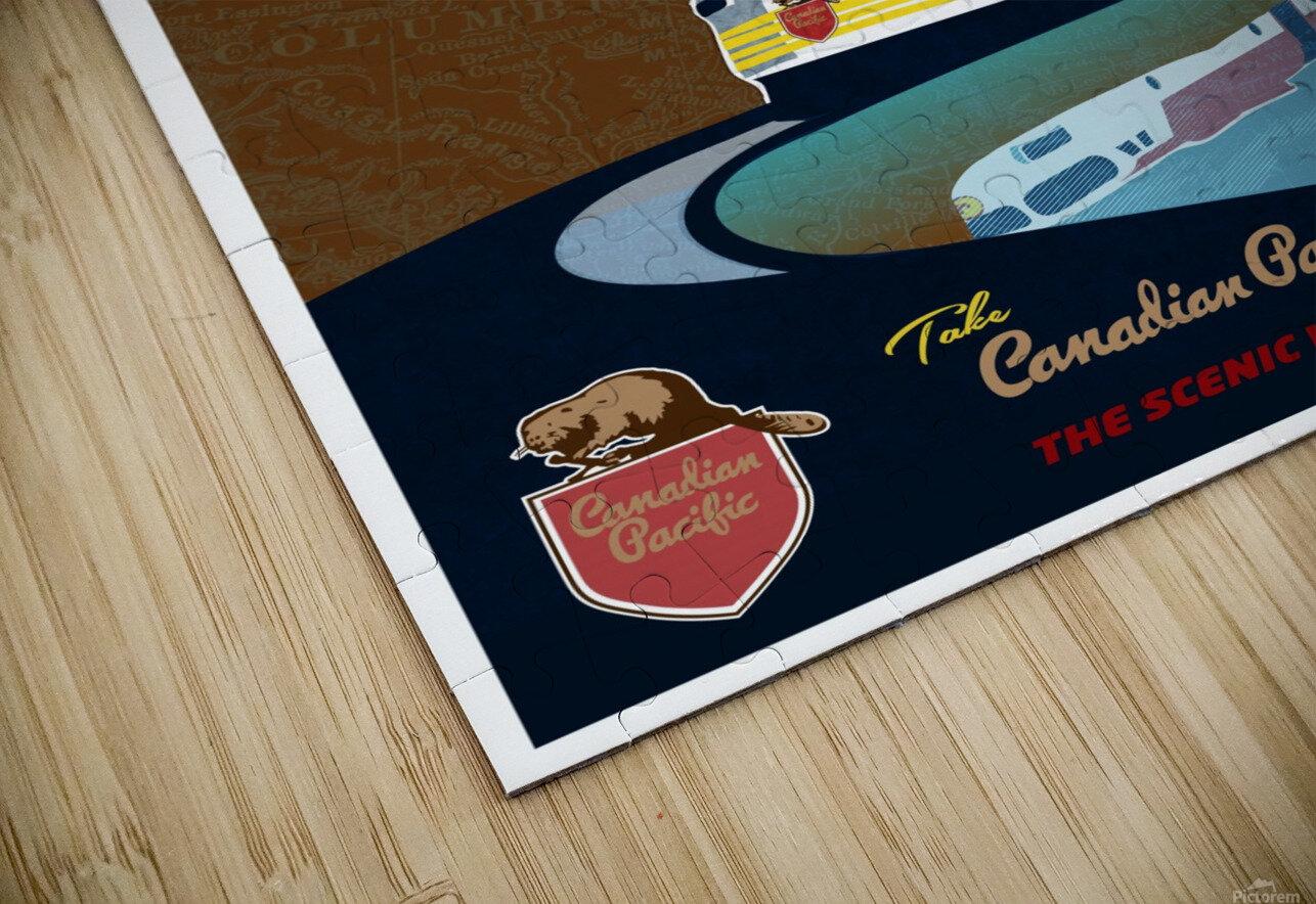 Retro CP rail travel poster HD Sublimation Metal print