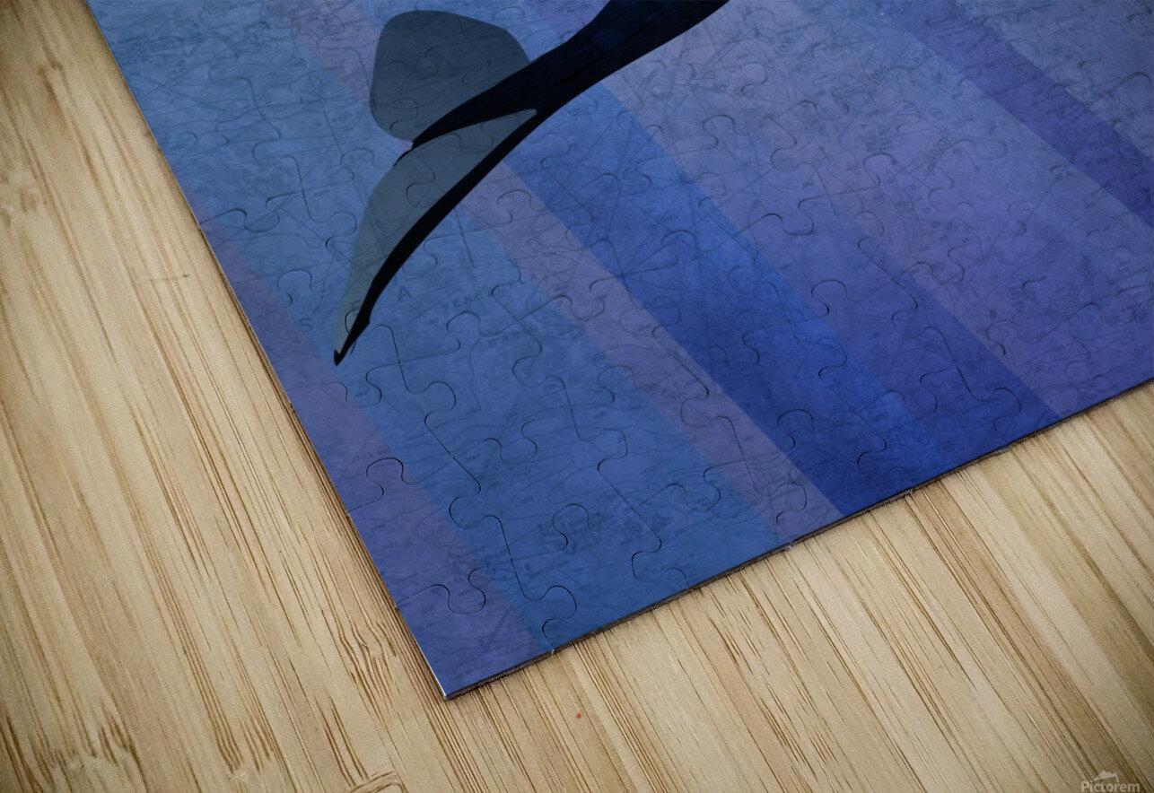 Scuba Dive with Whale HD Sublimation Metal print