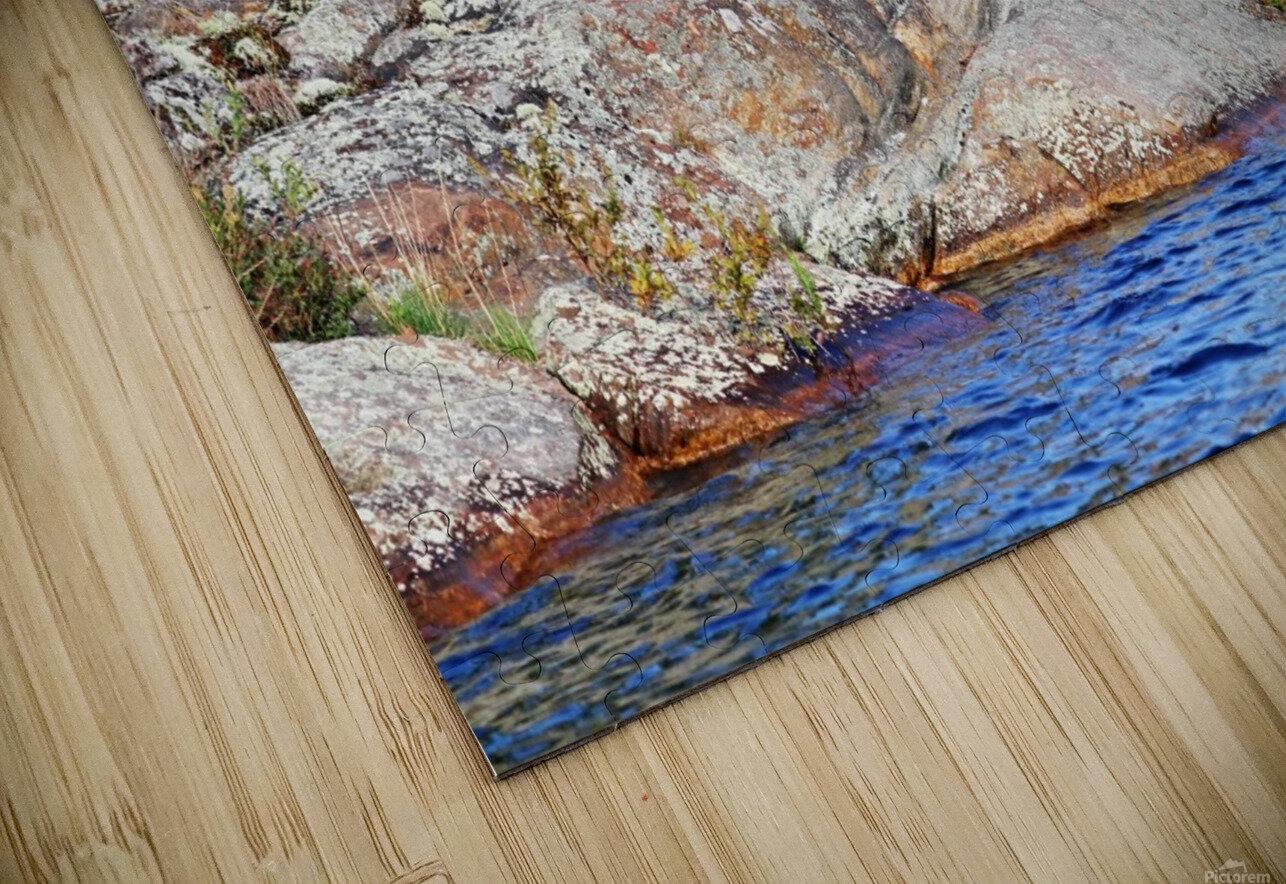 Shawanaga Rock Formation HD Sublimation Metal print