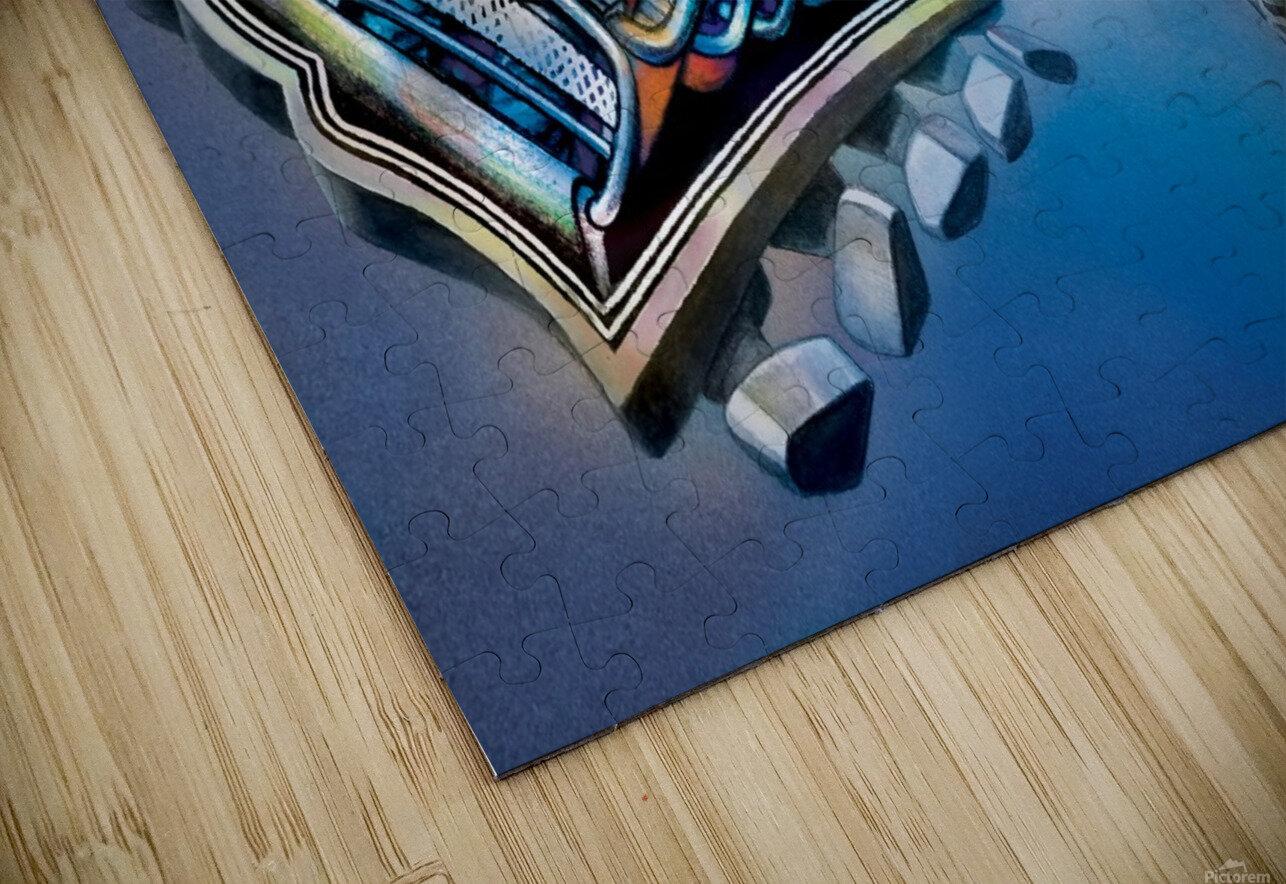 Jimi Hendrix by Krzysztof Grzondziel HD Sublimation Metal print