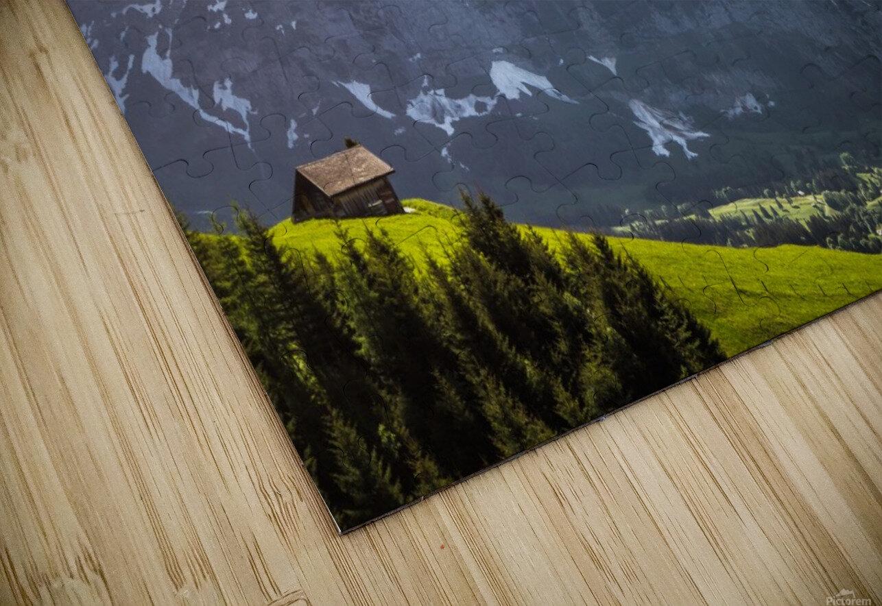 Hut Overlook HD Sublimation Metal print