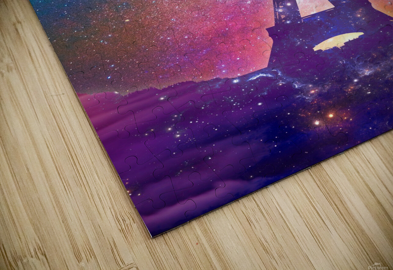 Eiffel Tower - Milky Way Collage HD Sublimation Metal print