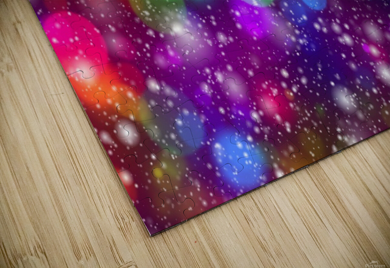 background, abstract, bokeh, lights, decoration, star, party, colorful, confetti, HD Sublimation Metal print