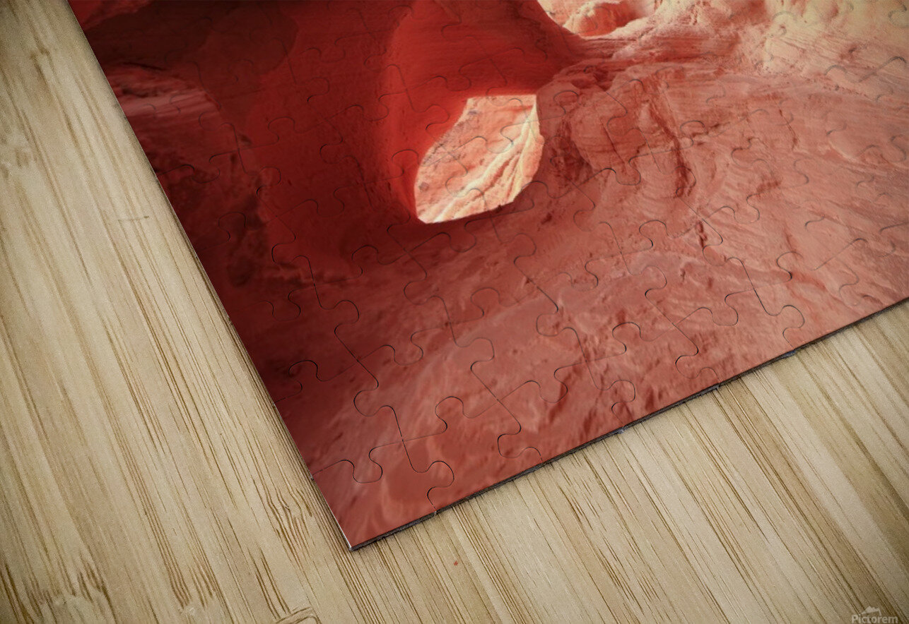 Valley of Fire Cave HD Sublimation Metal print