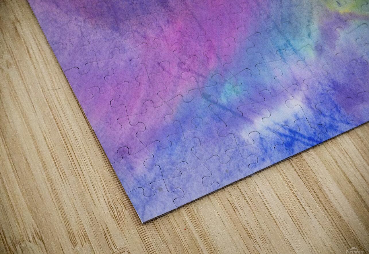 Abstract Mauve wave HD Sublimation Metal print