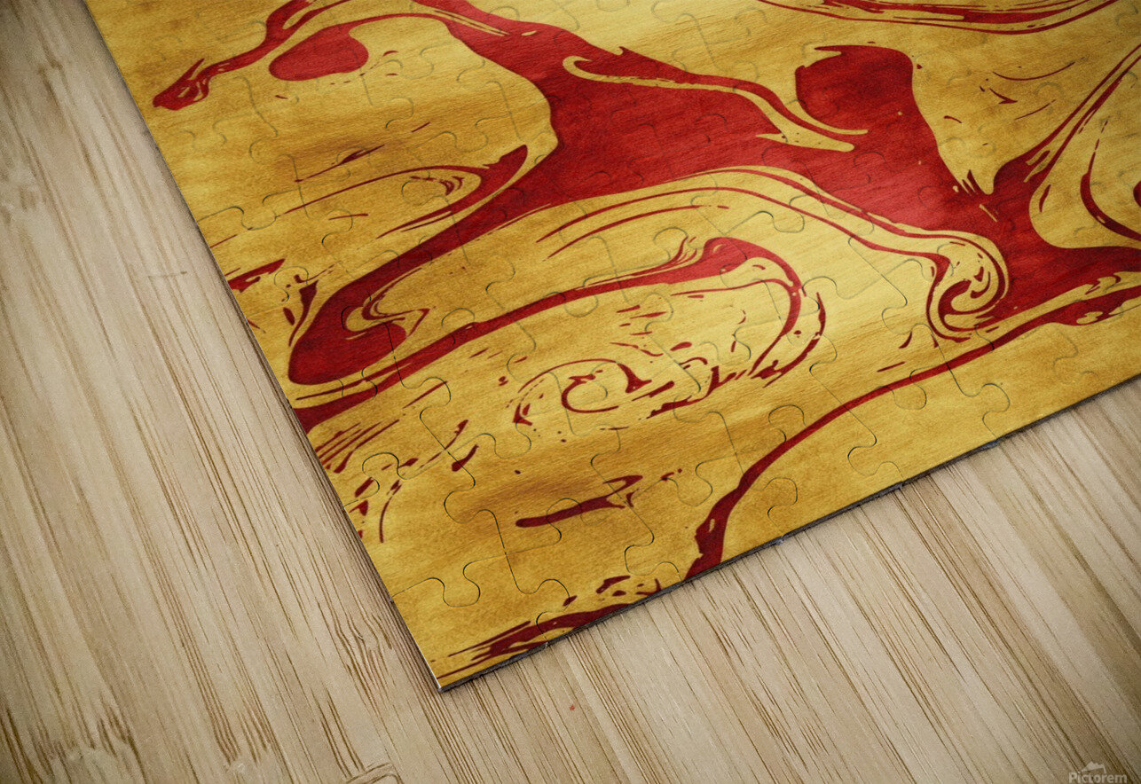 Red Dragon Marble HD Sublimation Metal print