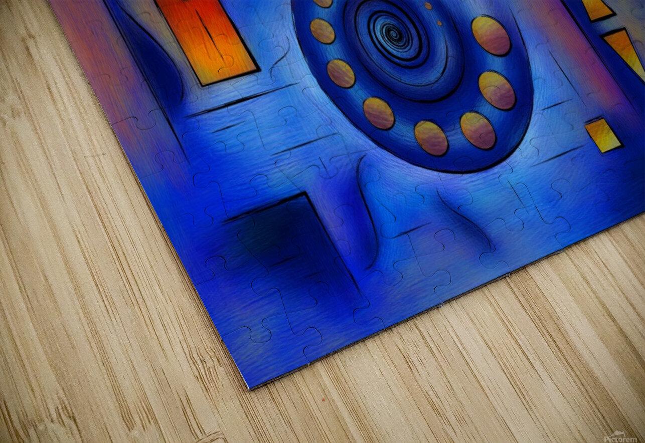 Grefenorium - blue spiral world HD Sublimation Metal print