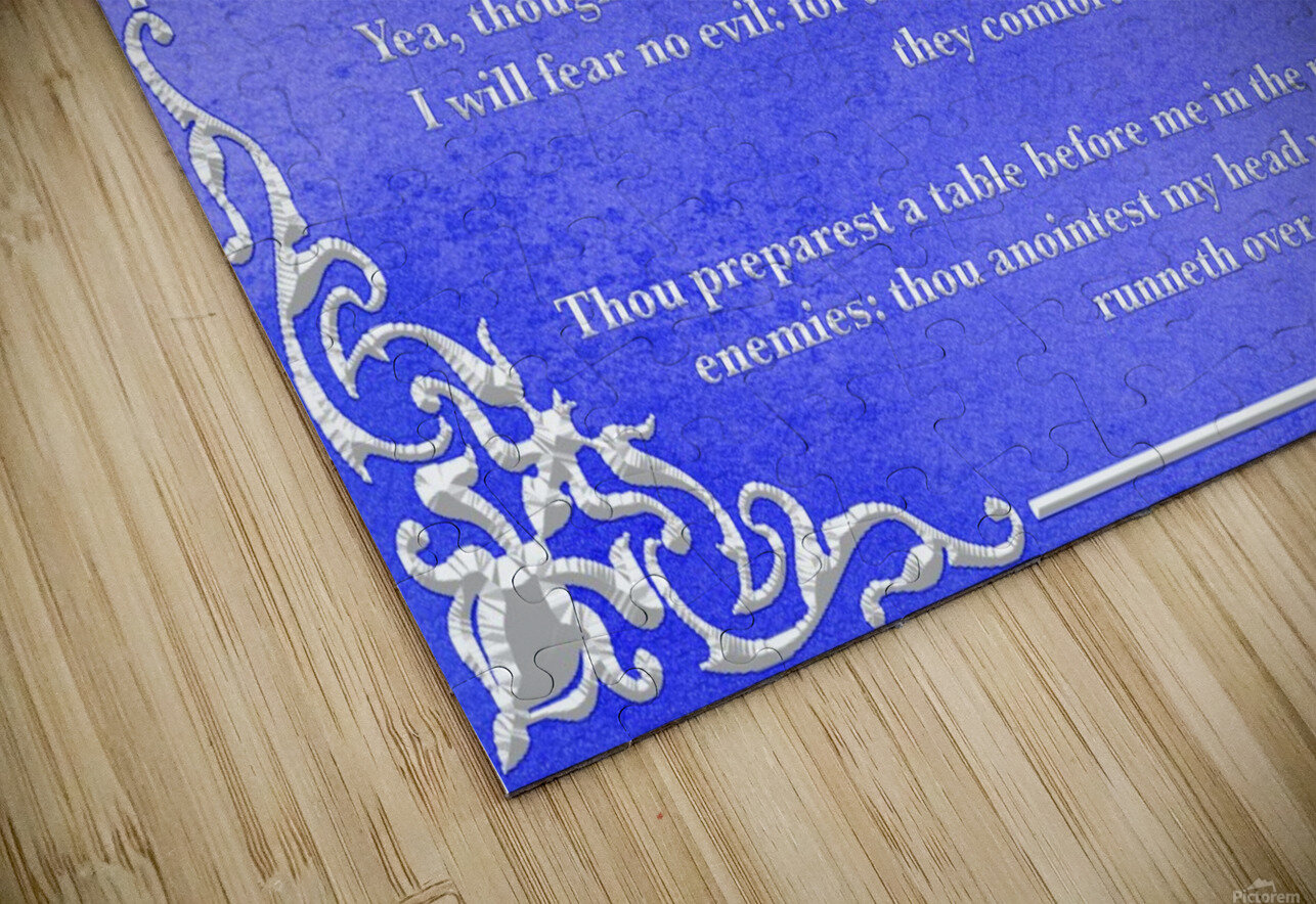 Psalm 23 1BL HD Sublimation Metal print