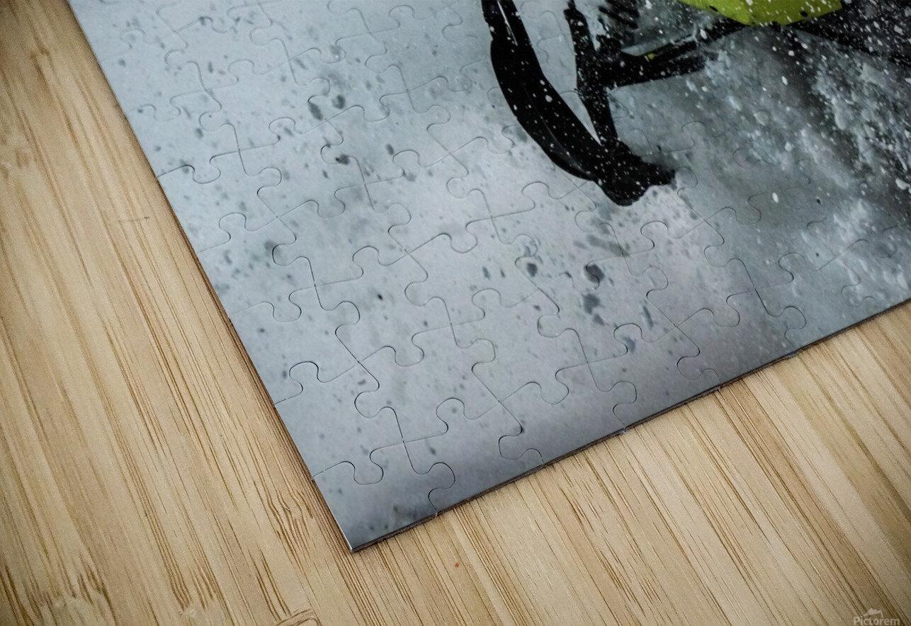Chez nous c'est Ski-doo  HD Sublimation Metal print
