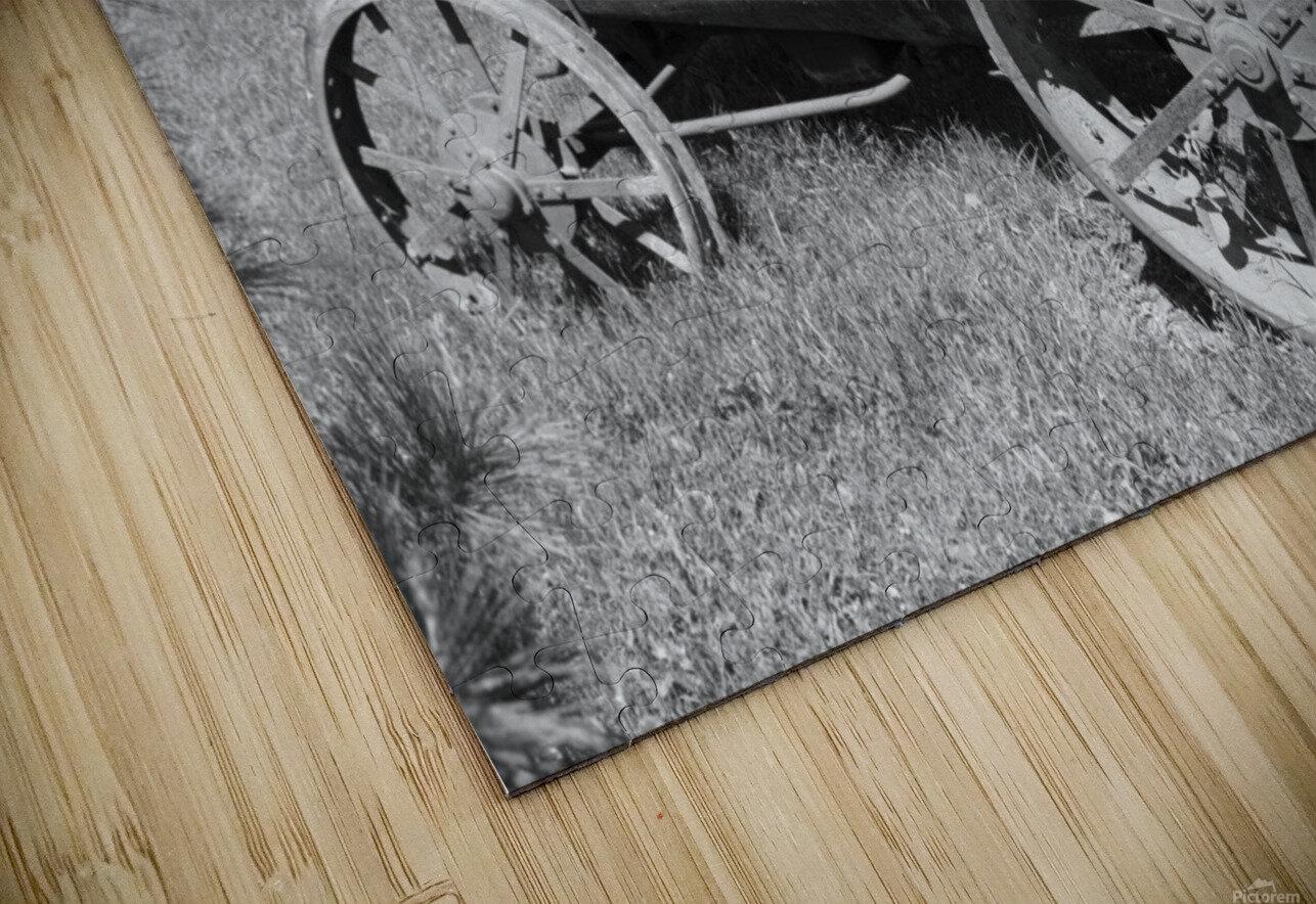 McCormick-Deering gasoline tractor 2 B&W HD Sublimation Metal print