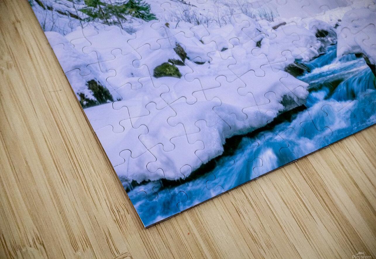 Semi frozen falls HD Sublimation Metal print