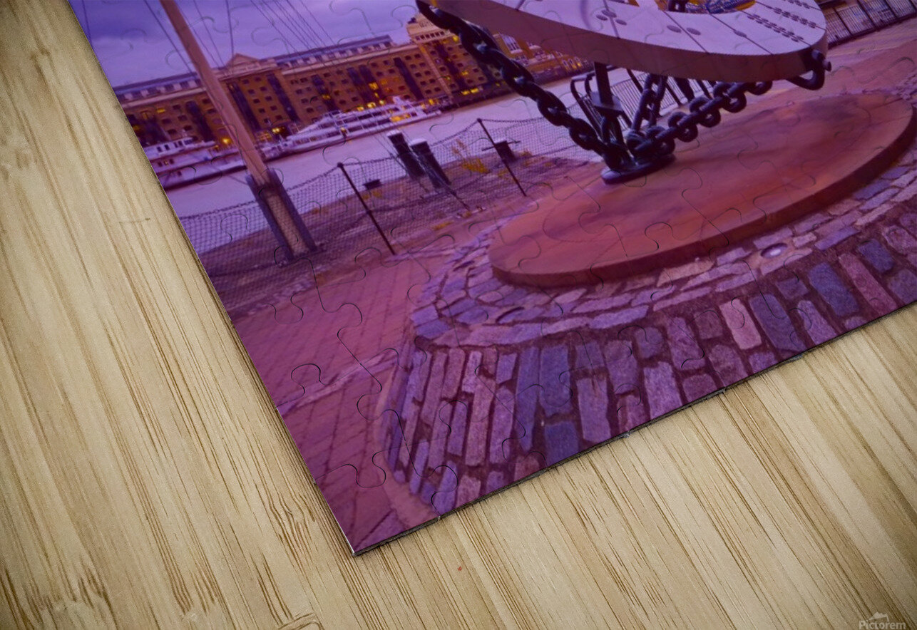 Sundial and Tower Bridge HD Sublimation Metal print