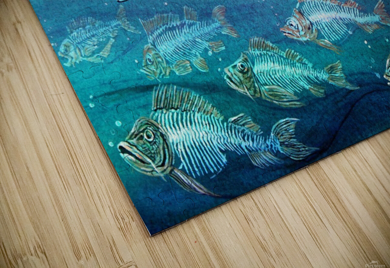 Fish cleaning by Krzysztof Grzondziel HD Sublimation Metal print
