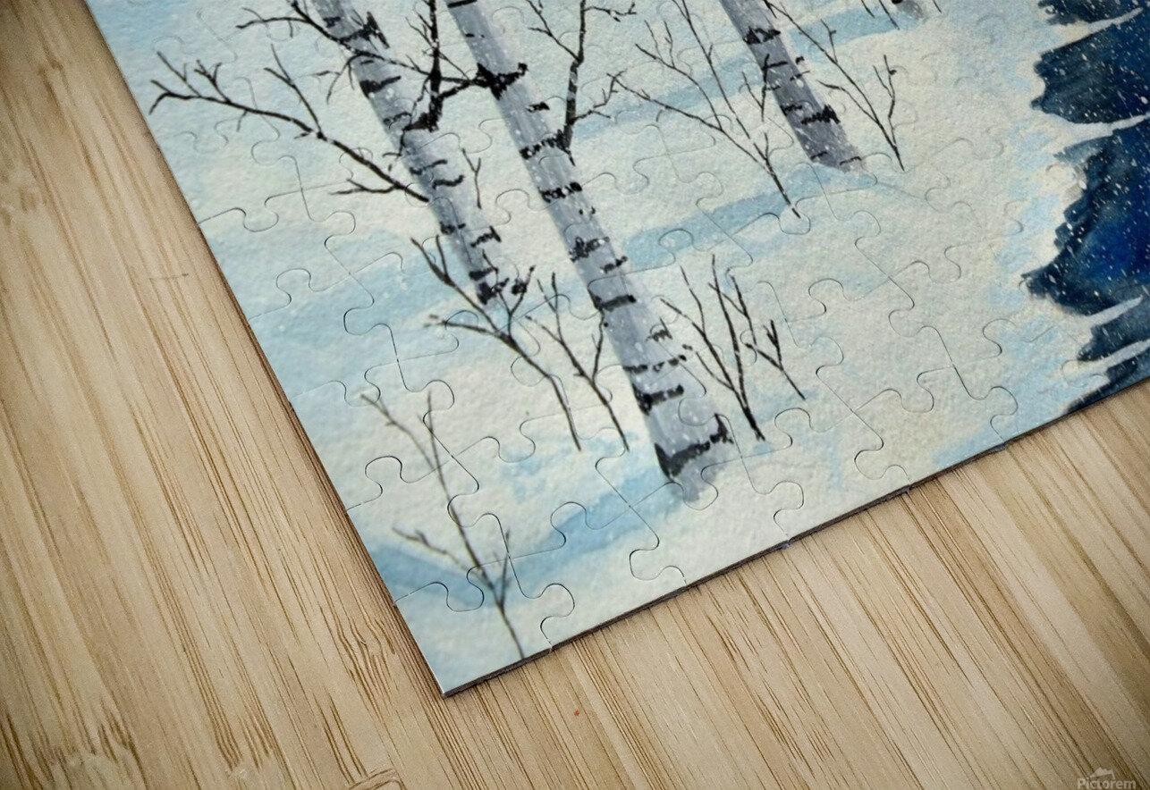 Winter Blues HD Sublimation Metal print