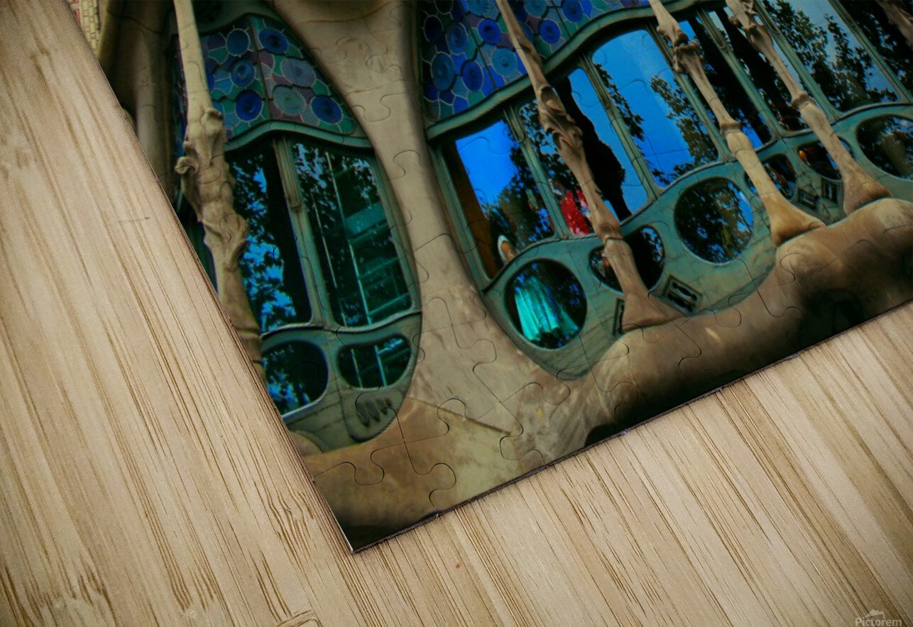 Casa Milla - Barcelona - Spain Landmark HD Sublimation Metal print