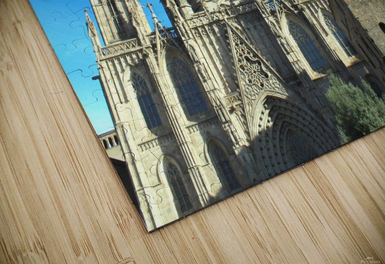 Amazing Barcelona Cathedral HD Sublimation Metal print