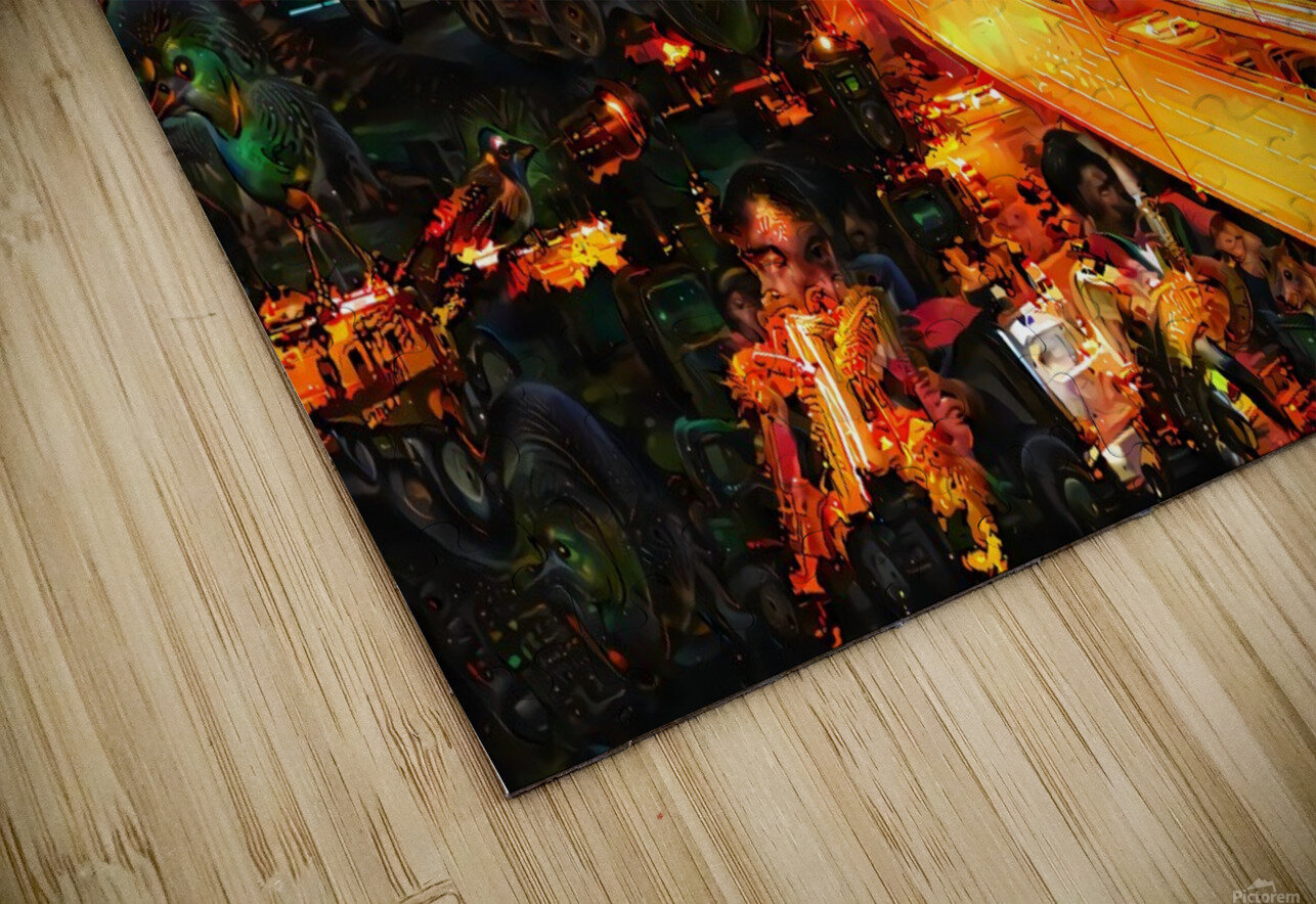 Midnight at the Ol Races HD Sublimation Metal print