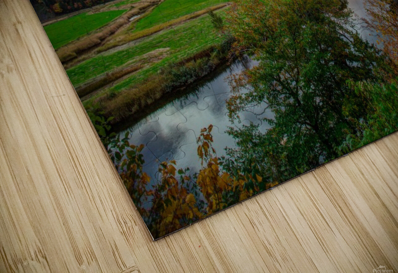 Serene Valley HD Sublimation Metal print