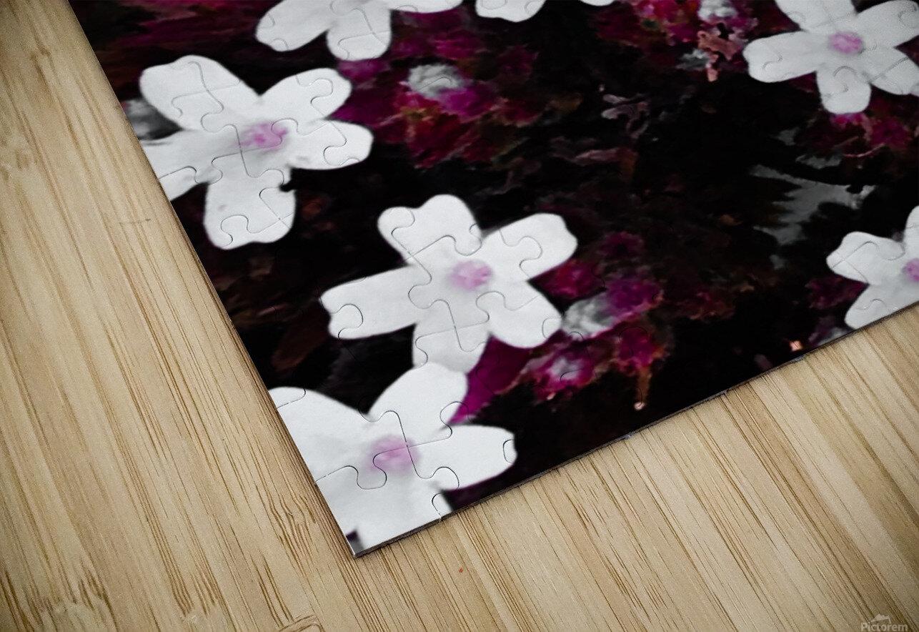 White bloom Impression de sublimation métal HD