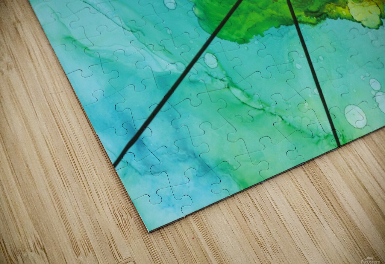 Green under the Lines HD Sublimation Metal print