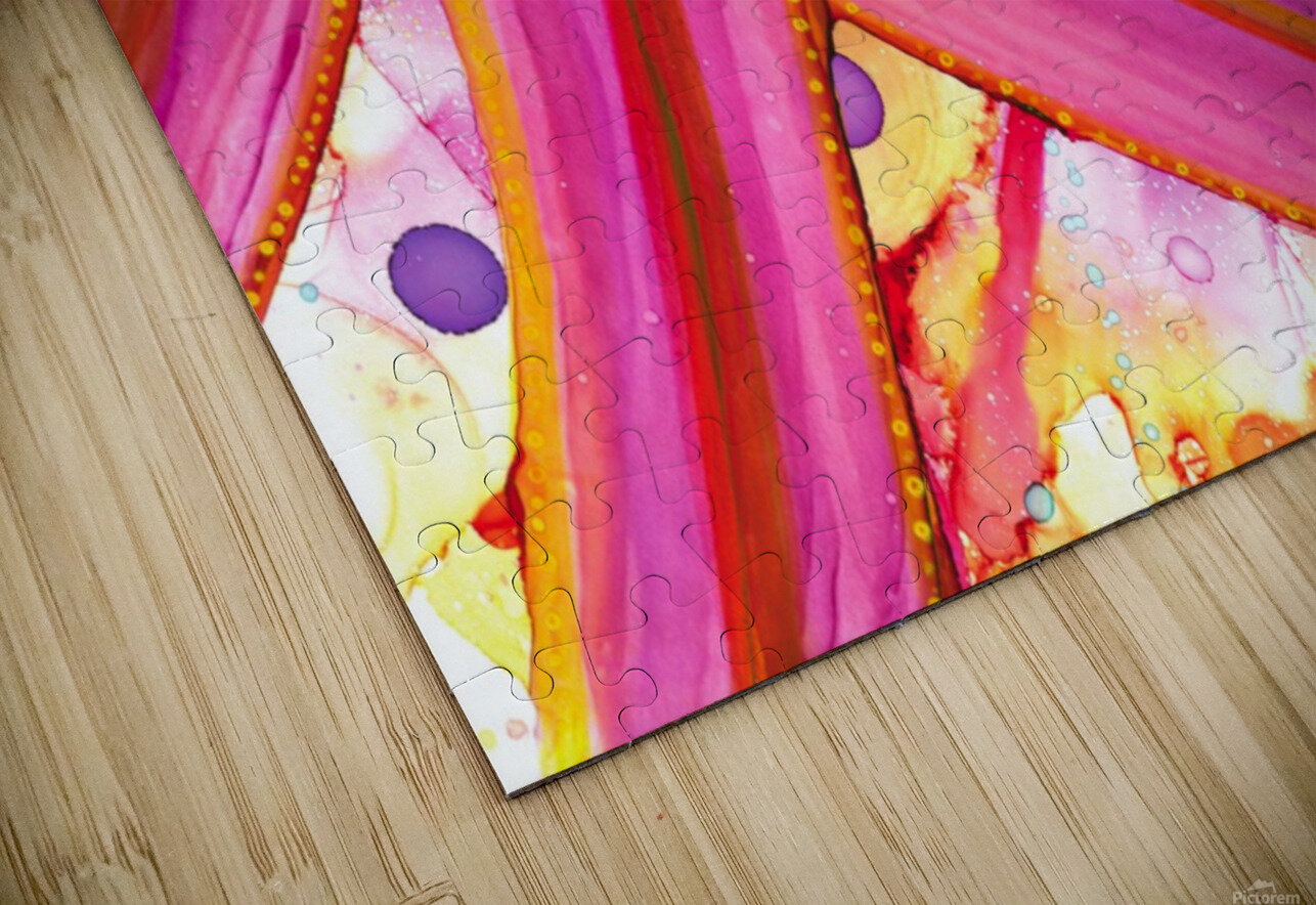 The party is over HD Sublimation Metal print