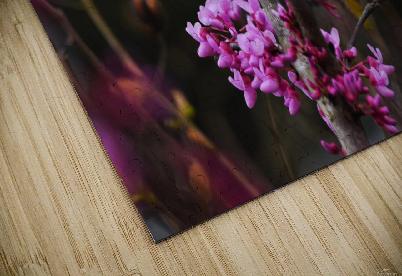 Pink Trees HD Sublimation Metal print