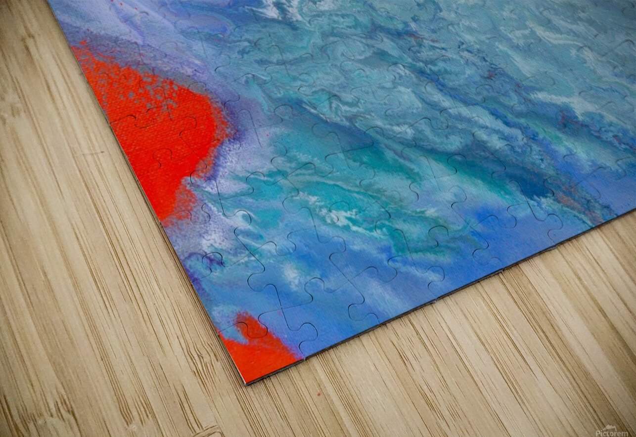 AGAINST THE REEF HD Sublimation Metal print