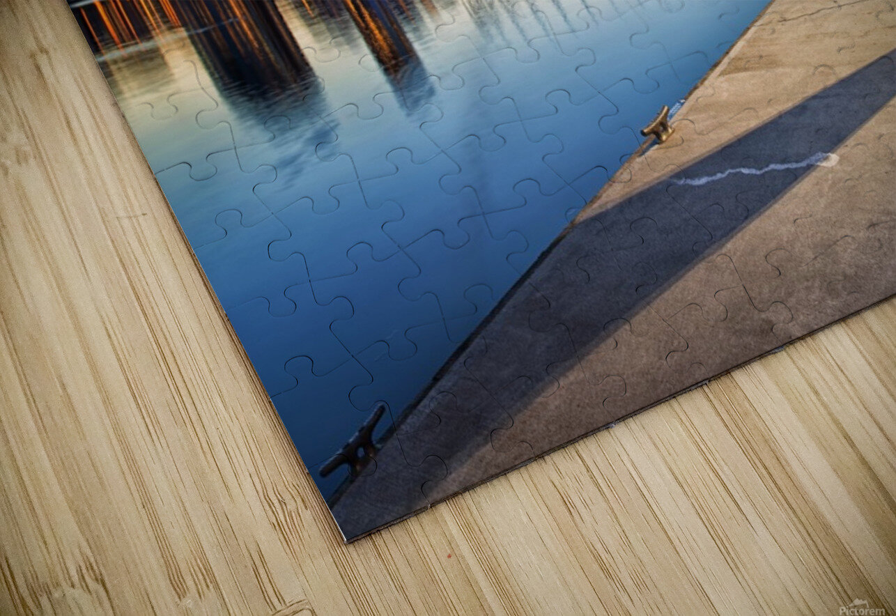 Waiting for Water Taxi HD Sublimation Metal print