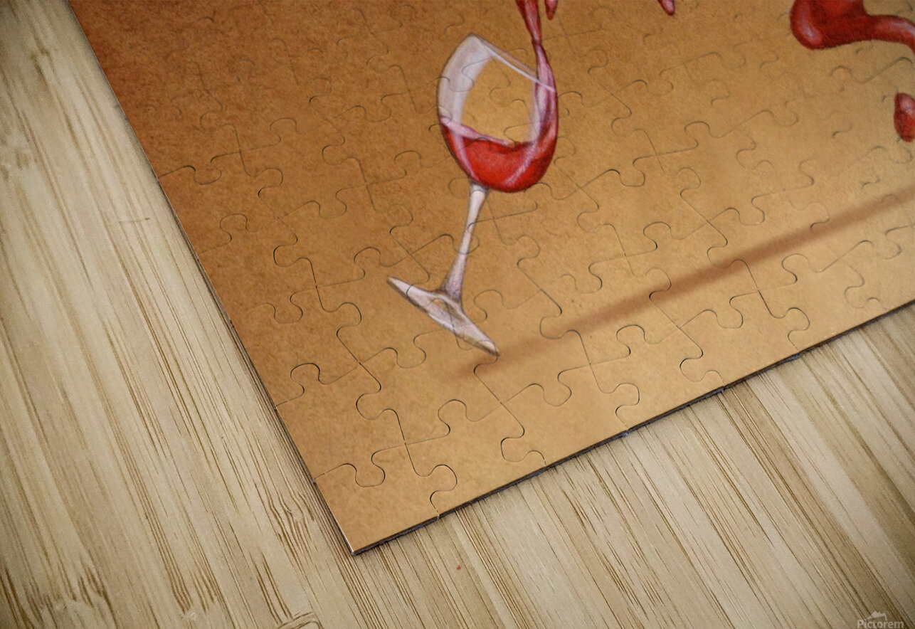 red wine HD Sublimation Metal print