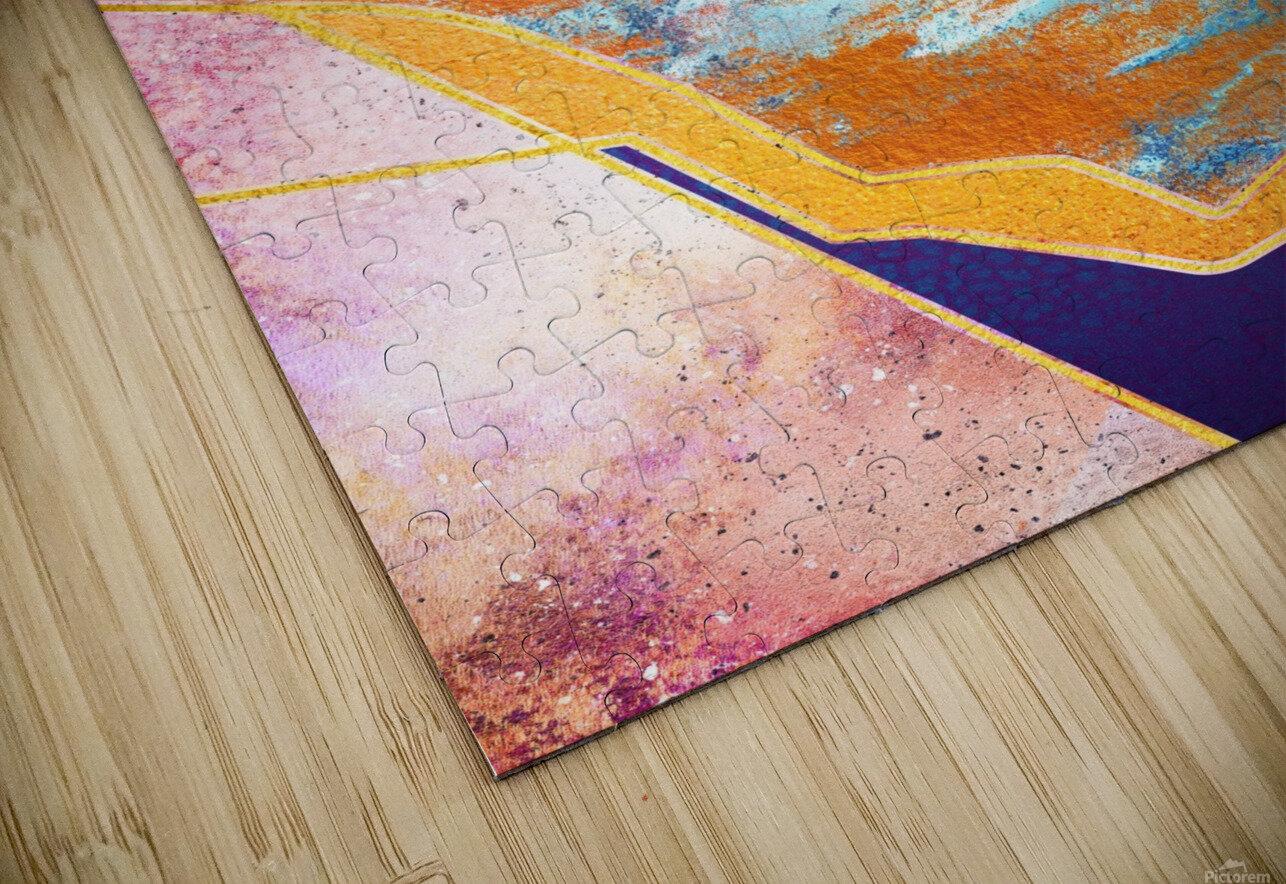 Abstract Sunset - Illustration VI HD Sublimation Metal print