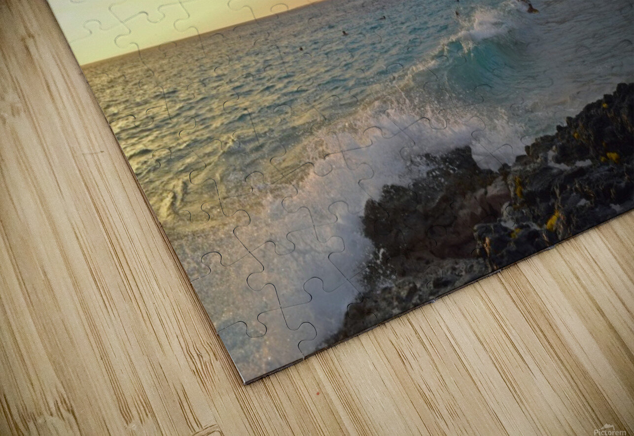 Sunset Beach HD Sublimation Metal print