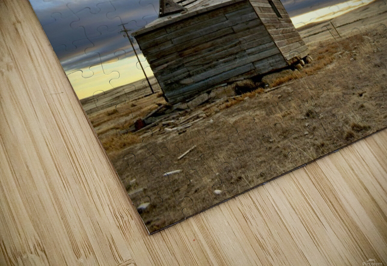 Ghost Town House HD Sublimation Metal print