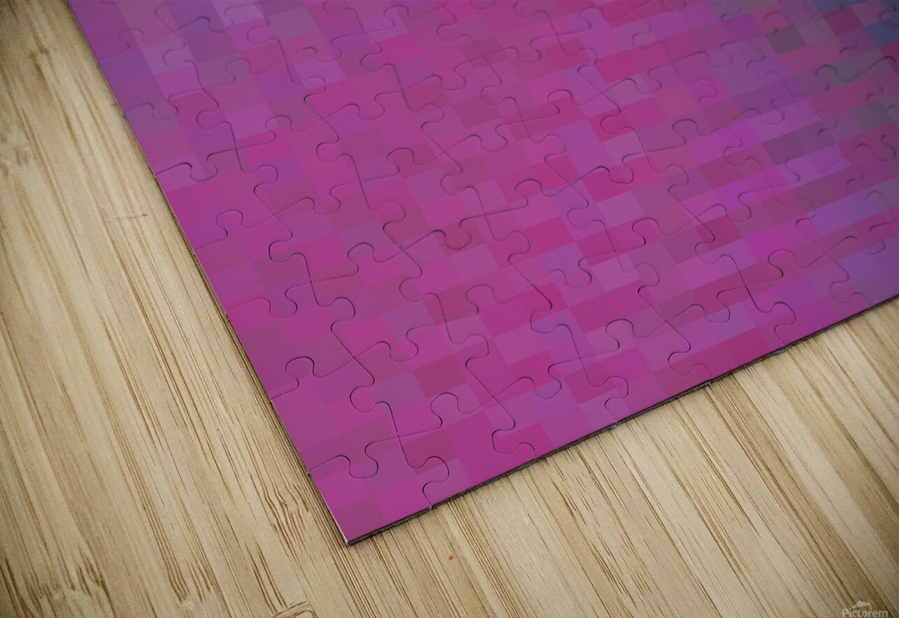 geometric square pixel pattern abstract background in pink and blue HD Sublimation Metal print