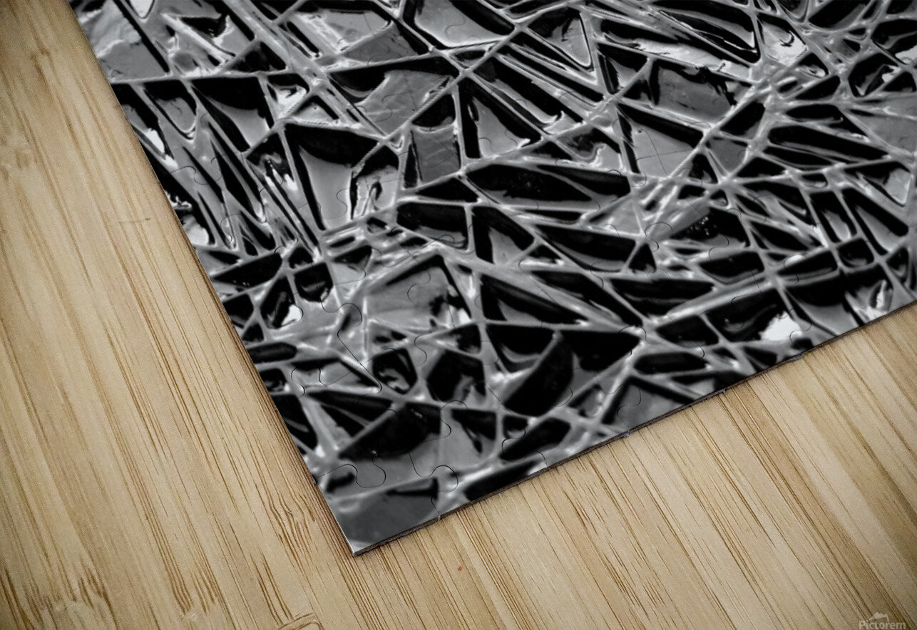 Natural Geometry Black And White HD Sublimation Metal print