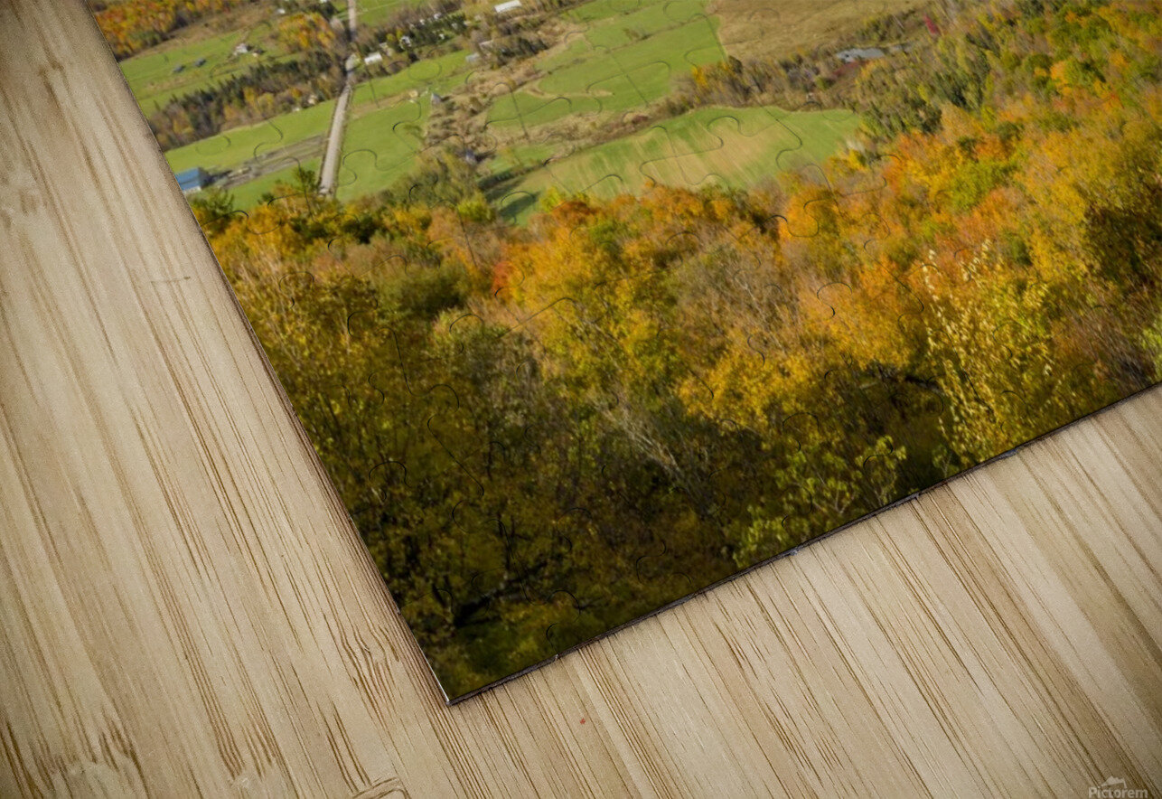View of Ottawa Valley in Autumn 9 HD Sublimation Metal print