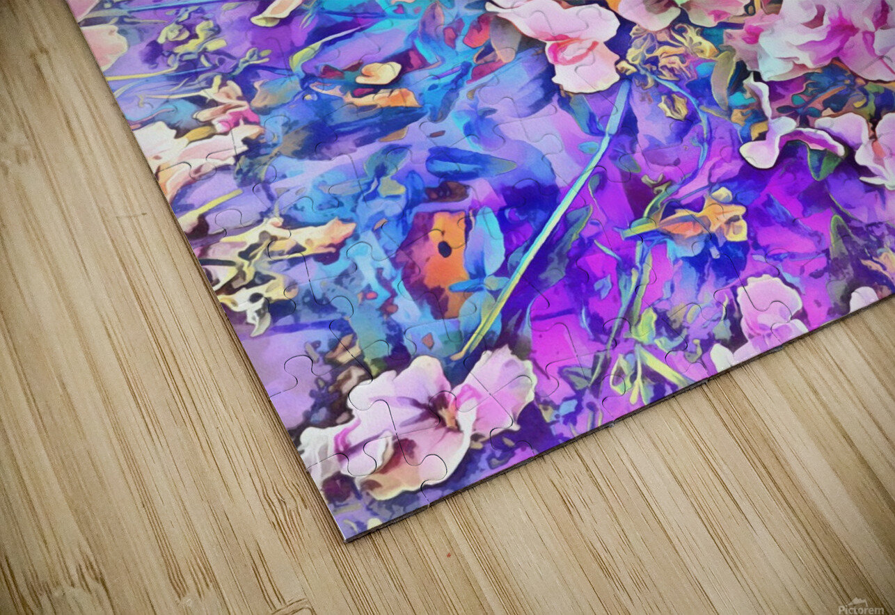 Pink and Blue Fusion HD Sublimation Metal print